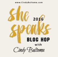 she speaks blog hop